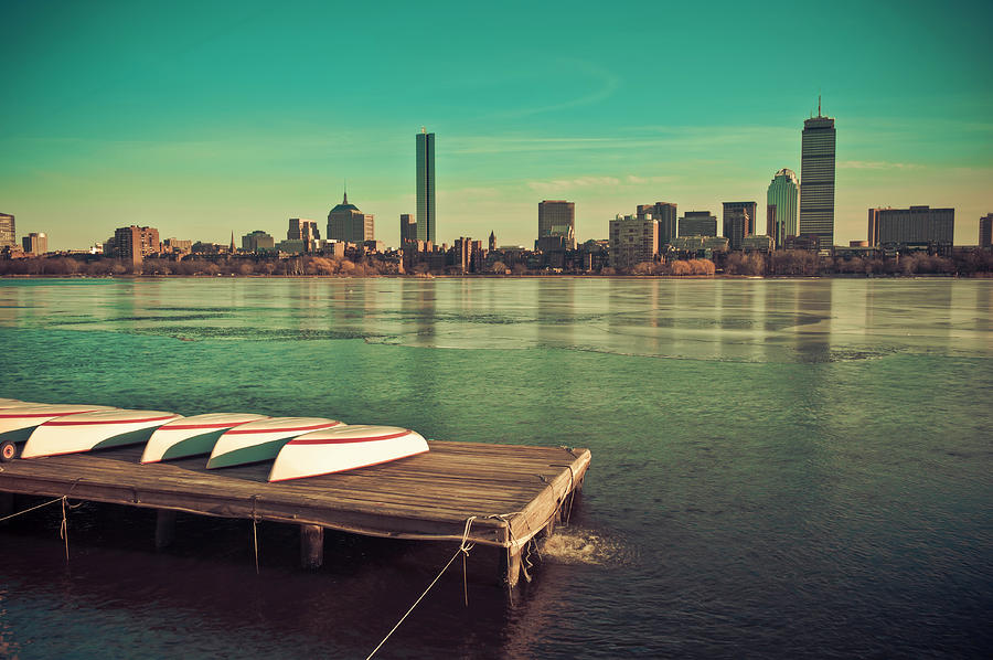 Hdr Photograph - Retro Boston by Andrew Kubica