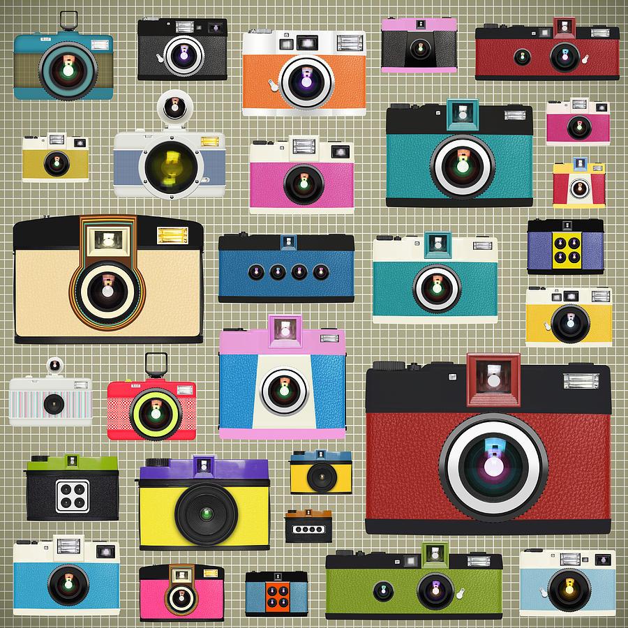 Analog Painting - Retro Camera Pattern by Setsiri Silapasuwanchai