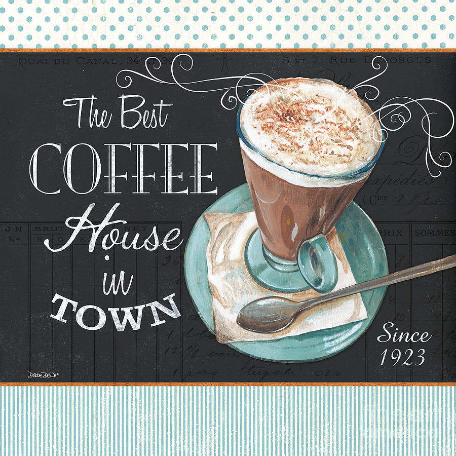 Coffee Painting - Retro Coffee 2 by Debbie DeWitt