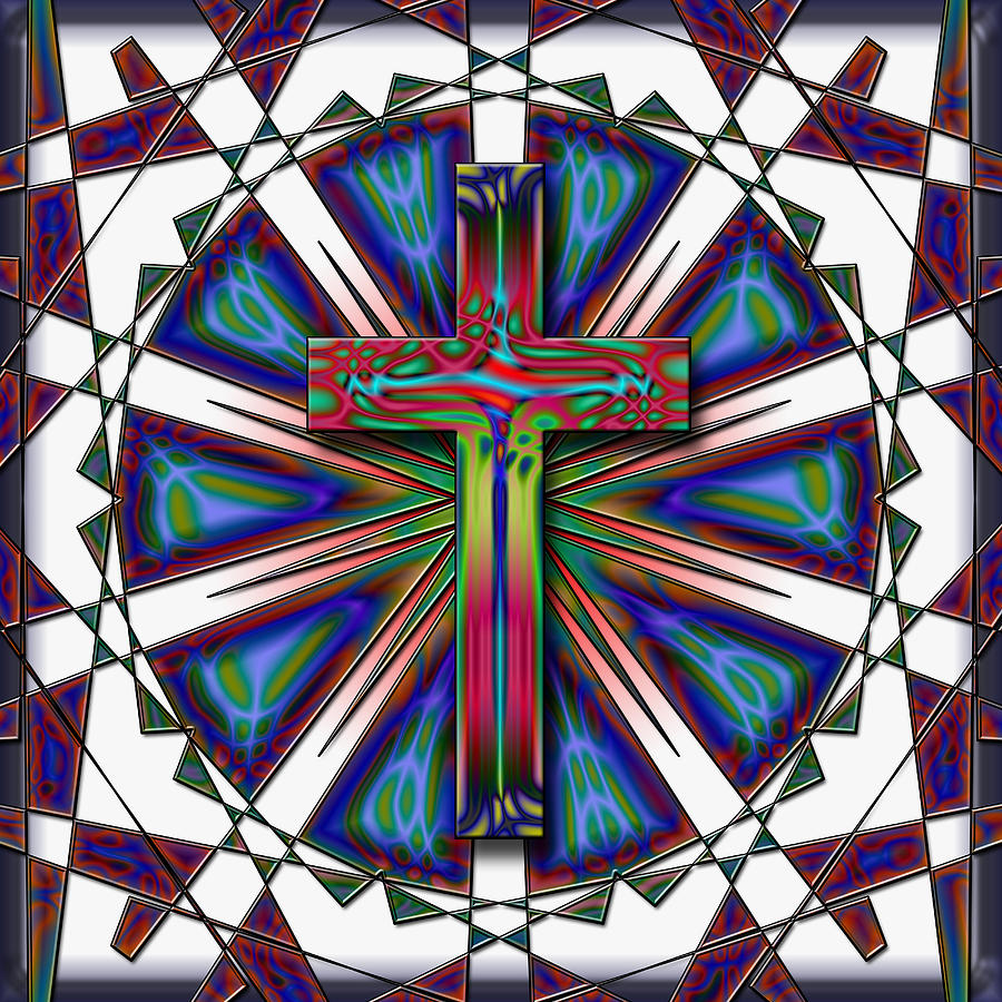 Retro Cross Digital Art by David G Paul
