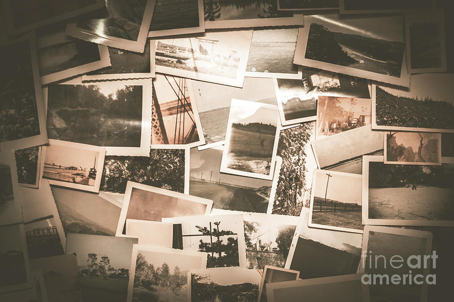 Retro Photo Album Background Photograph by Jorgo Photography - Wall ...