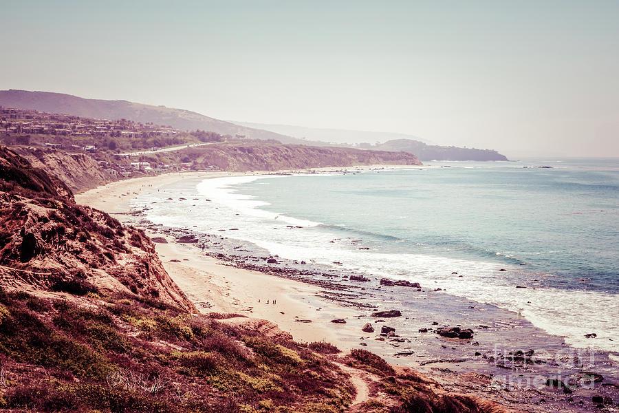 America Photograph - Retro Photo Of Laguna Beach California by Paul Velgos