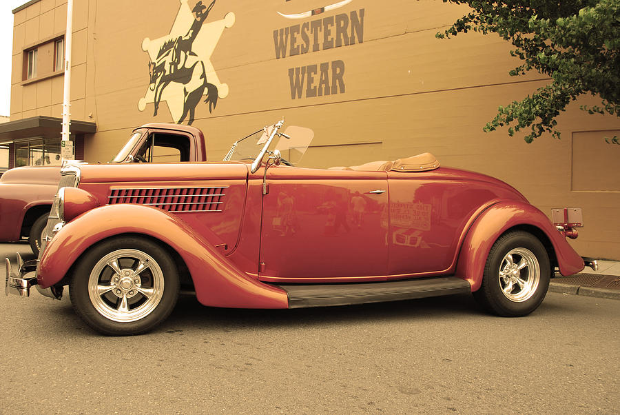 Car Photograph - Retro Red by Anastasia Michaels