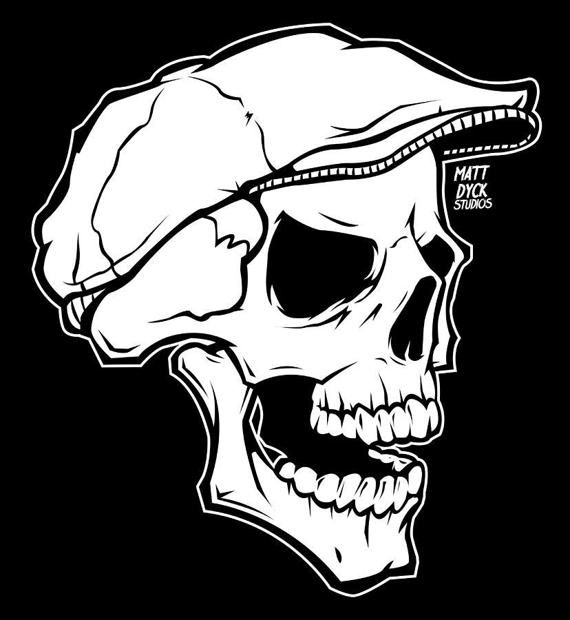 Skull Digital Art - Retro Skull by Matt Dyck