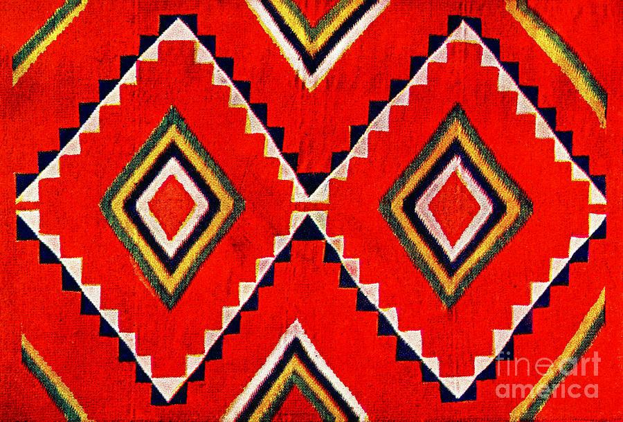 Red Photograph - Retro Textile Design 1900 by Padre Art