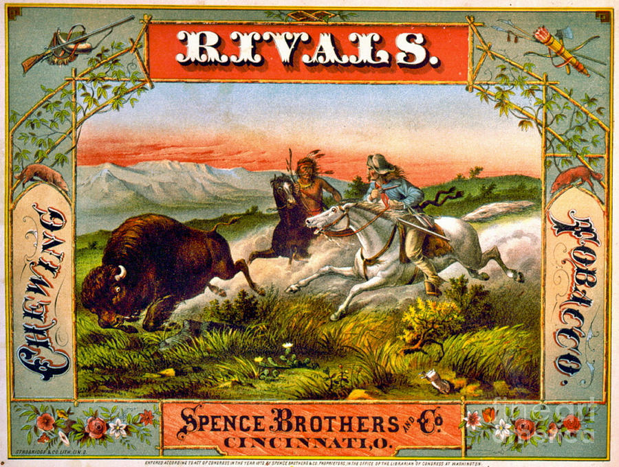 Retro Tobacco Label 1872 d by Padre Art