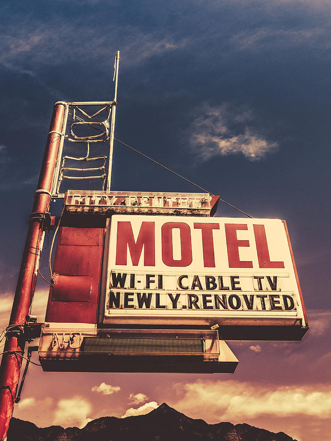 1950s Photograph - Retro Vintage Motel Sign by Mr Doomits
