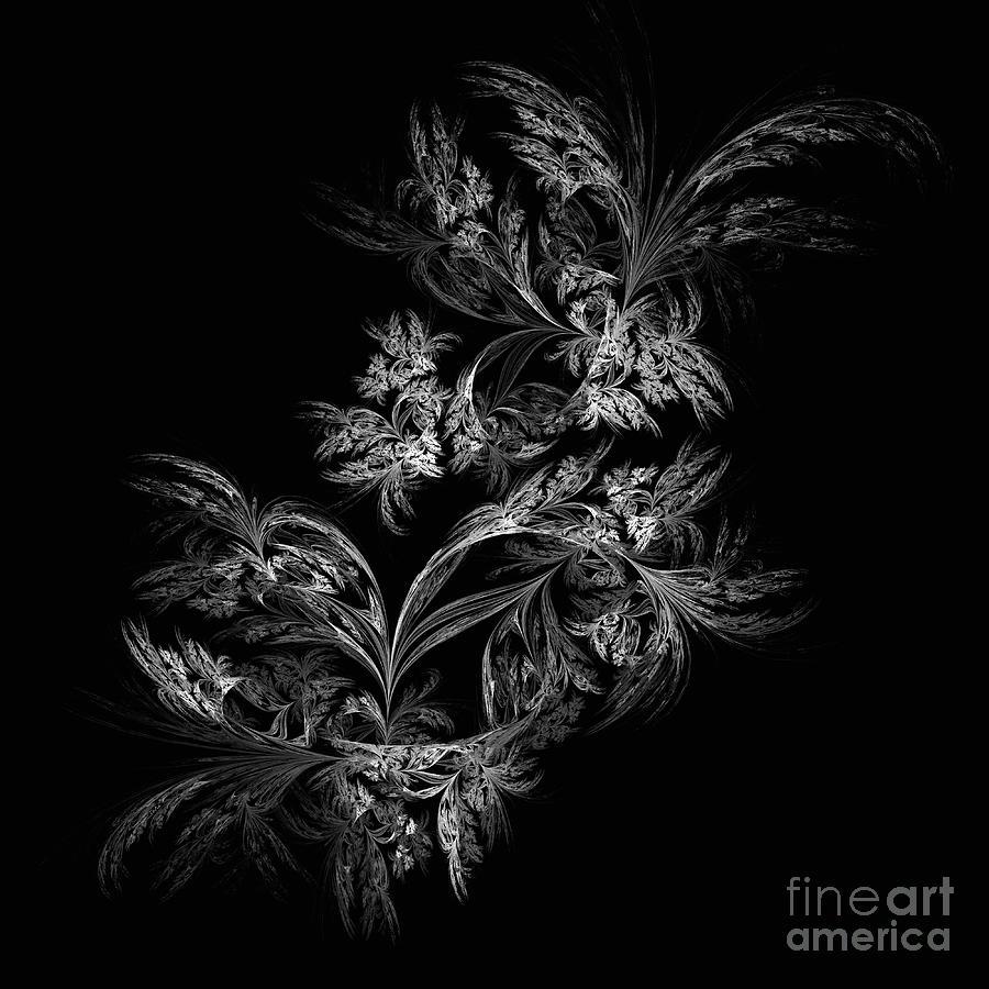Abstract Digital Art - Retro. Wb by Galina Lavrova