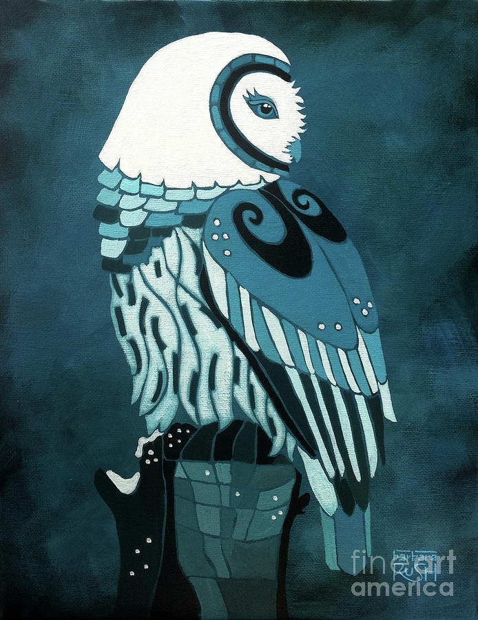 Retrospect in the Moonlight Owl by Barbara Rush