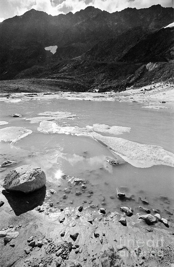 Glacier Photograph - Rettenbachferner Melting Water by Riccardo Mottola