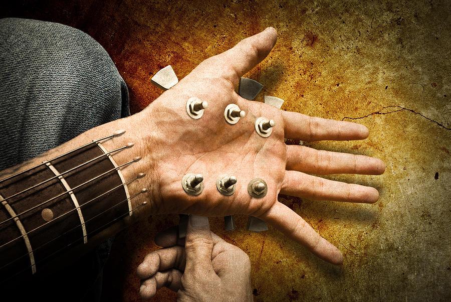 Music Digital Art - Retuning The Hand by Reggi Tirtakusumah