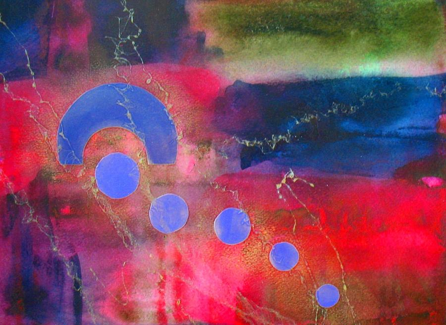 Abstract Painting - Returning Home by Louise Adams