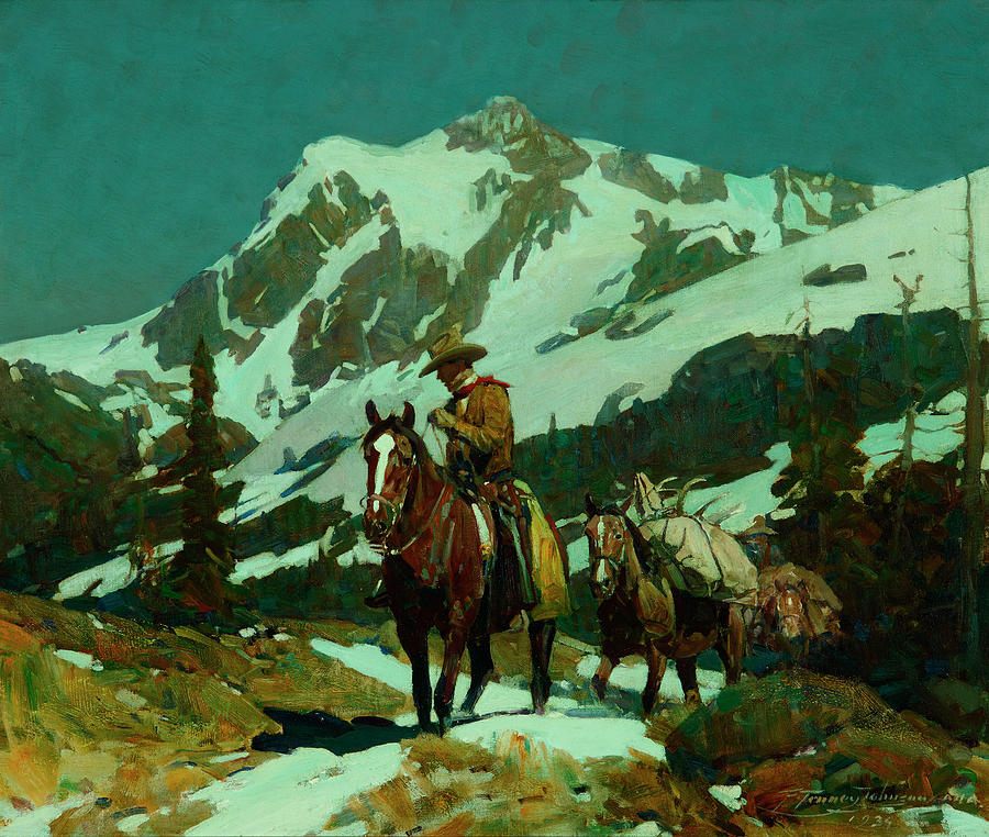 Return Painting - Return From The Hunt by Frank Tenney Johnson