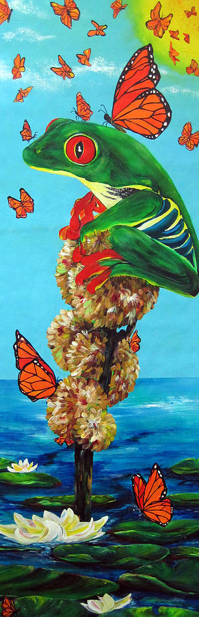 Frogs Painting - Return Of The Monarchs by Cheryl Ehlers