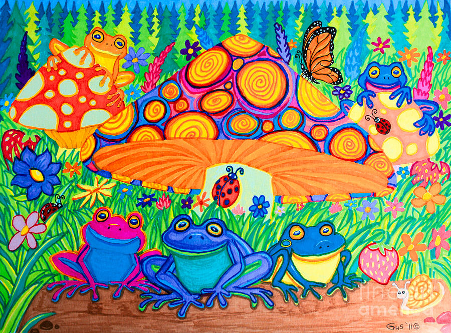 Return To Happy Frog Meadow Drawing