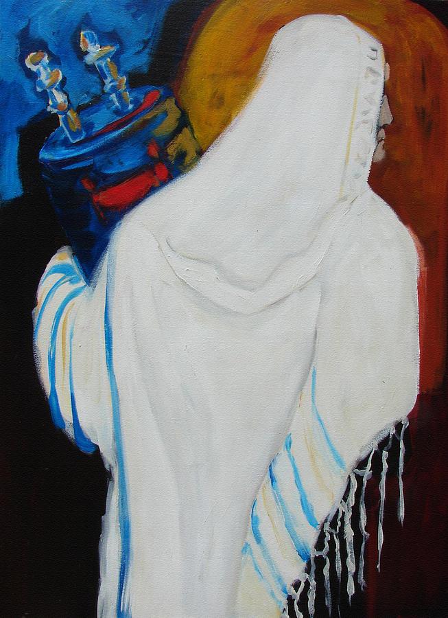 Torah Painting - Returning The Torah by Renee Kahn
