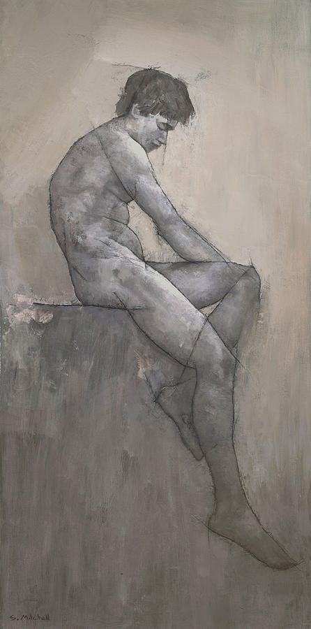 Male Painting - Reuben by Steve Mitchell
