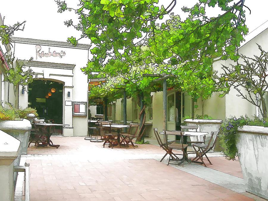 Restaurant Digital Art - Reubens In Franschhoek by Jan Hattingh