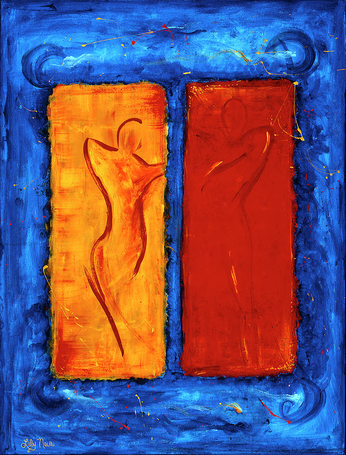 Soulmate Painting - Reunited by Lily Nava