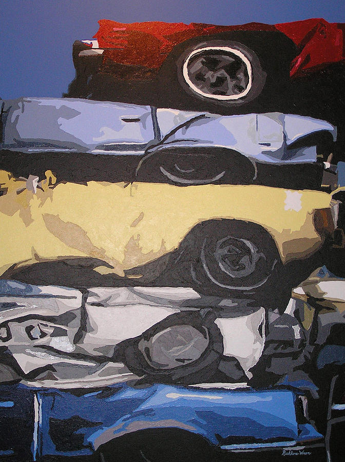 Cars Painting - Reunited by Ricklene Wren