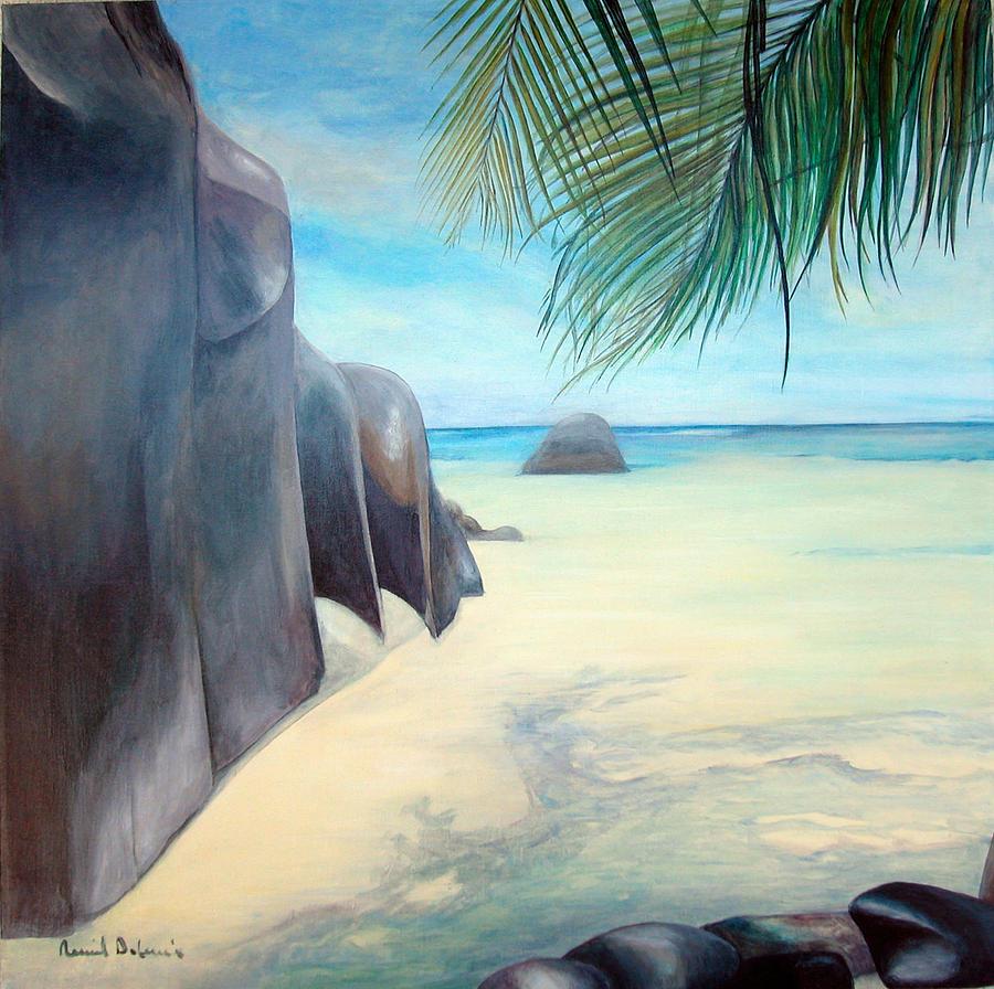 Paysage Painting - Reve by Muriel Dolemieux
