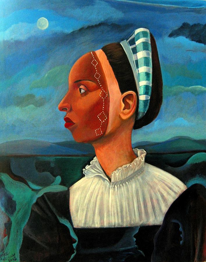Woman Painting - Revealed Truths and Myths III by Joyce Owens