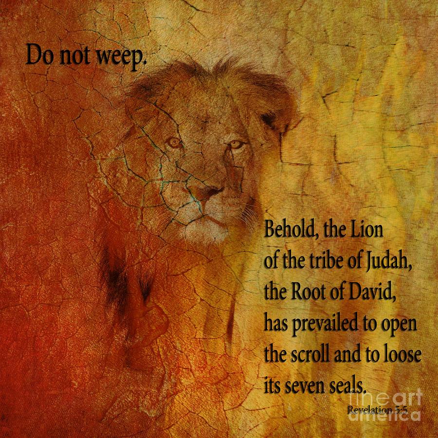 Revelation 5:5 Mixed Media - Revelation 5  5 Behold by Beverly Guilliams