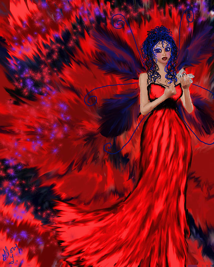 Red Painting - Revenge by Glorie Tortoso