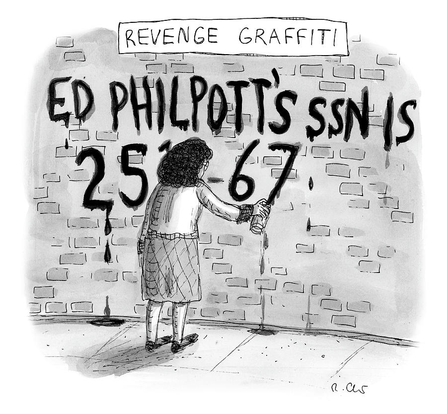Revenge Graffiti Drawing by Roz Chast