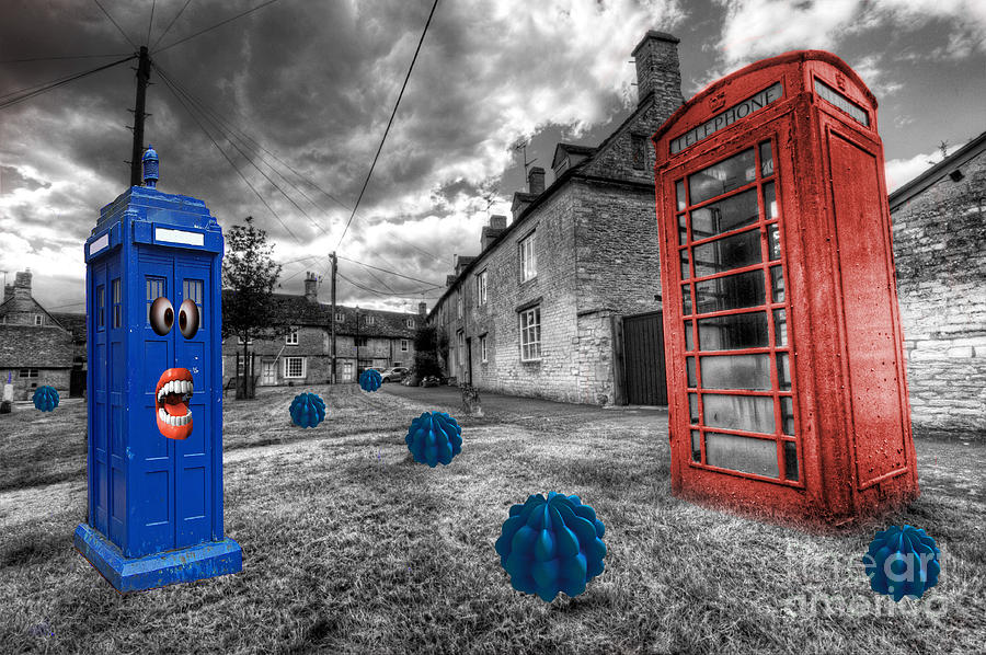 Telephone Photograph - Revenge Of The Killer Phone Box  by Rob Hawkins