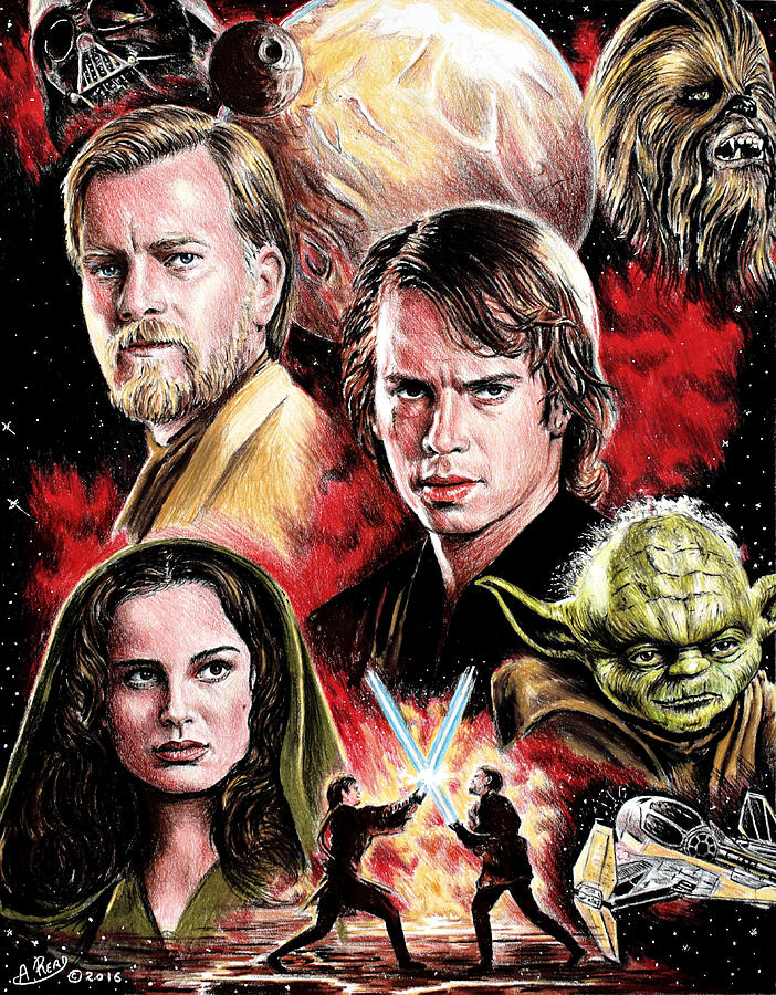 Revenge Of The Sith Edit Painting By Andrew Read