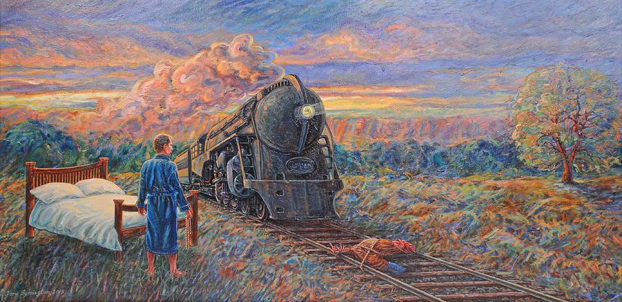 Landscape Painting - Revenge Of The Sleepless Man by Gary Symington