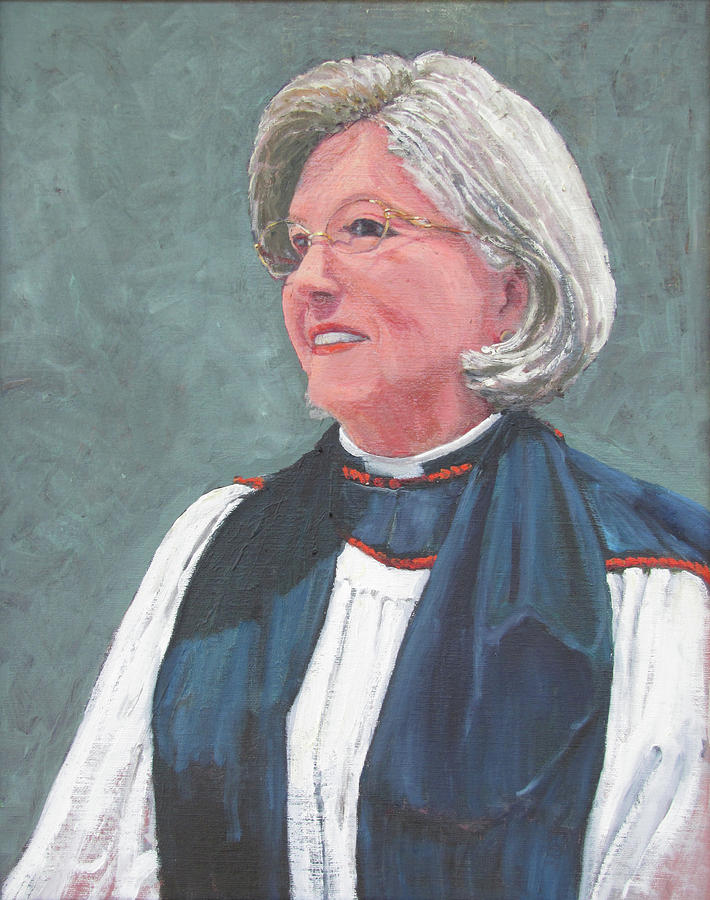 Reverend Mary Gregorius Painting by Thomas Michael Meddaugh