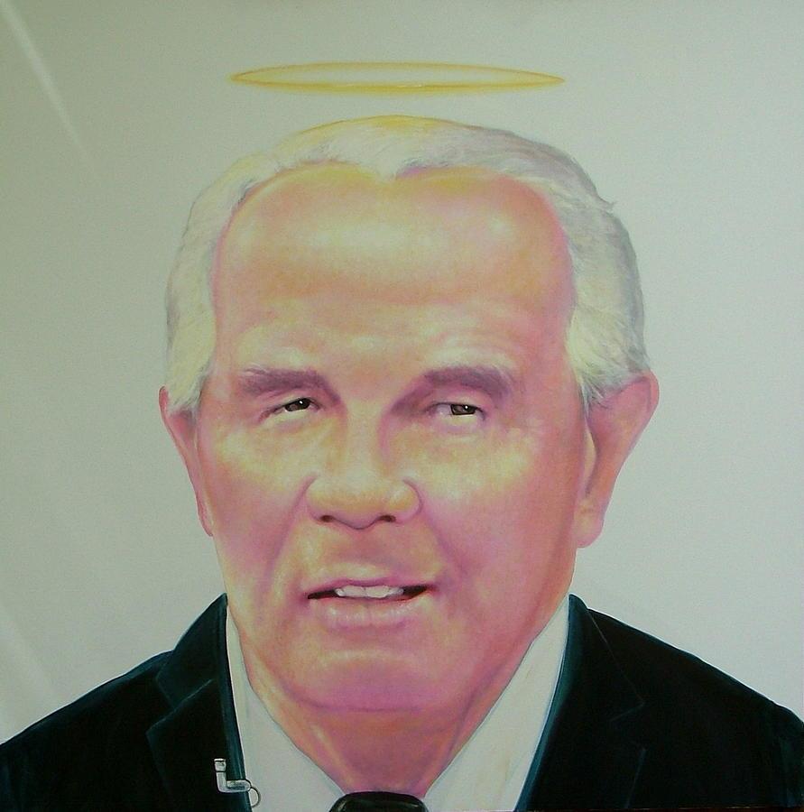 Portrait Painting - Reverend Pat Robertson by Gary Kaemmer