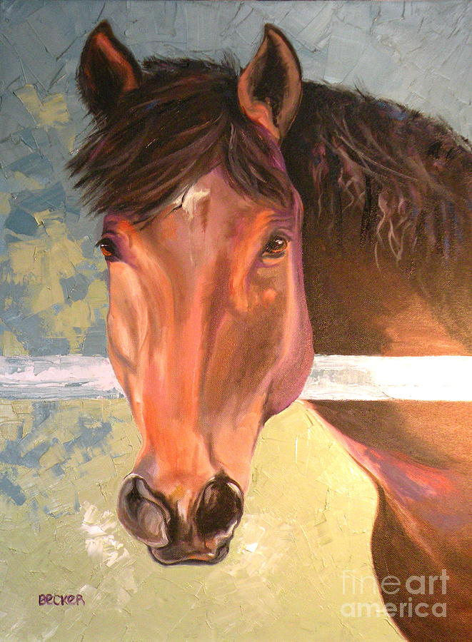 Horse Painting - Reverie - Quarter Horse by Susan A Becker