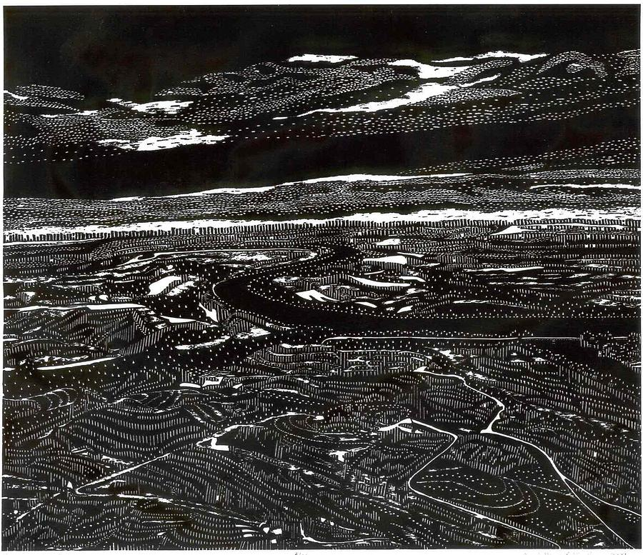 Landscape Print - Reverscape IIi by Carol Meis Ellington