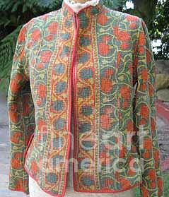 Hand Quilted Rallis Tapestry - Textile - Reversible Jackets by Banjara tribal Patchwork bags