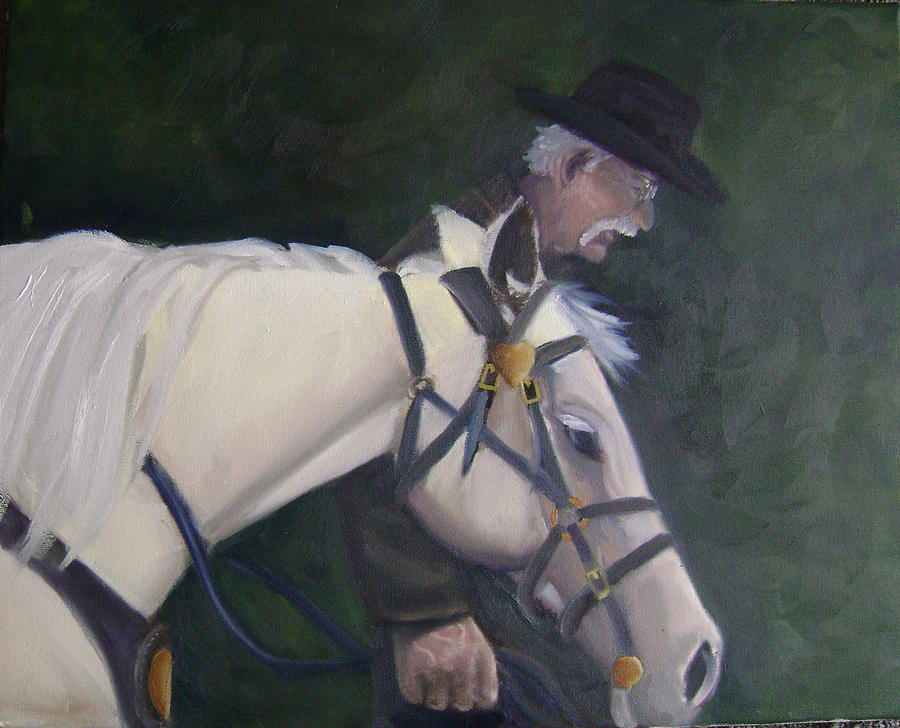 revised- Mans Best Friend Painting by Toni Berry