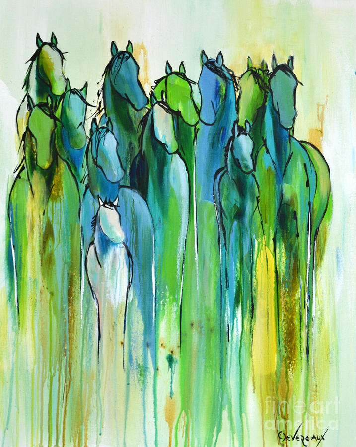 Horse Painting - Revive by Cher Devereaux