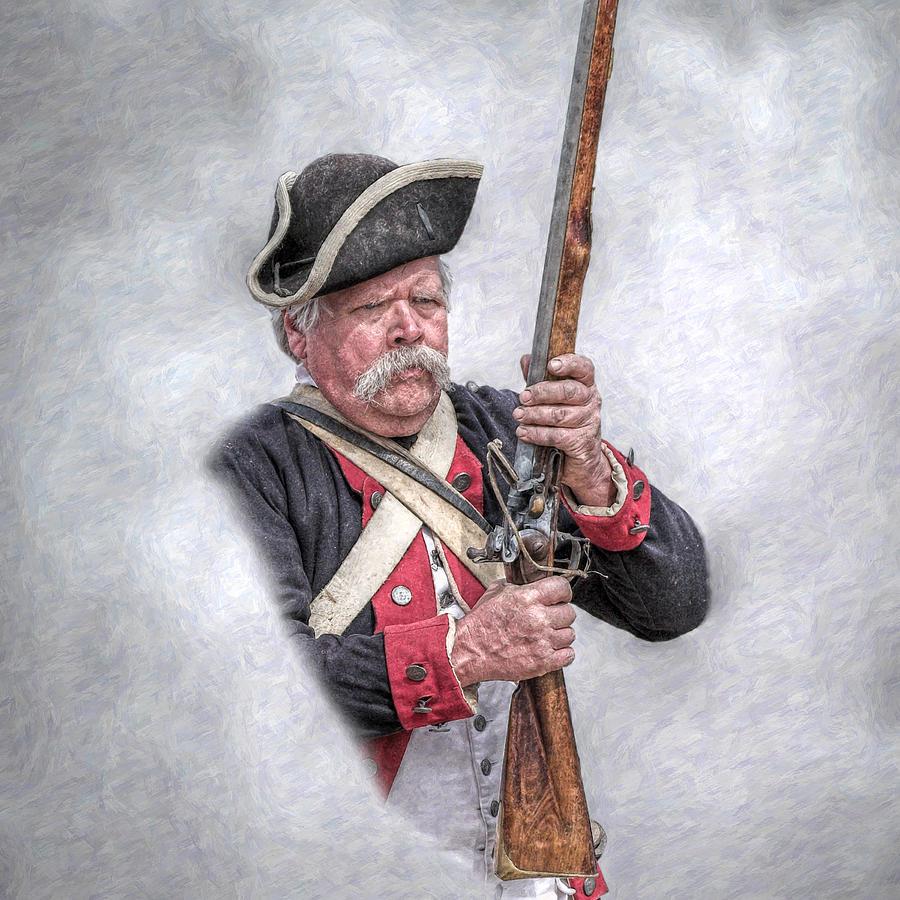 Revolutionary War American Soldier Digital Art by Randy Steele