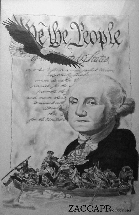 Mulberry High School Drawing - Revolutionary War by Zachary  Capodici