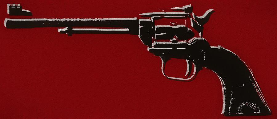 Revolver Mixed Media - Revolver Pop Art by Dan Sproul