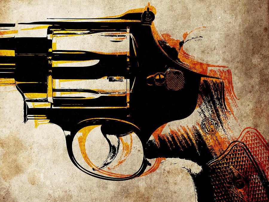 Revolver Digital Art - Revolver Trigger by Michael Tompsett