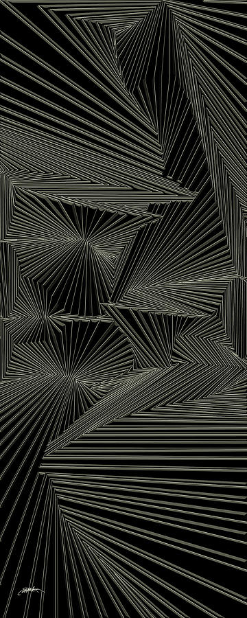 Optical Illusion Digital Art - Rewotkrad by Douglas Christian Larsen