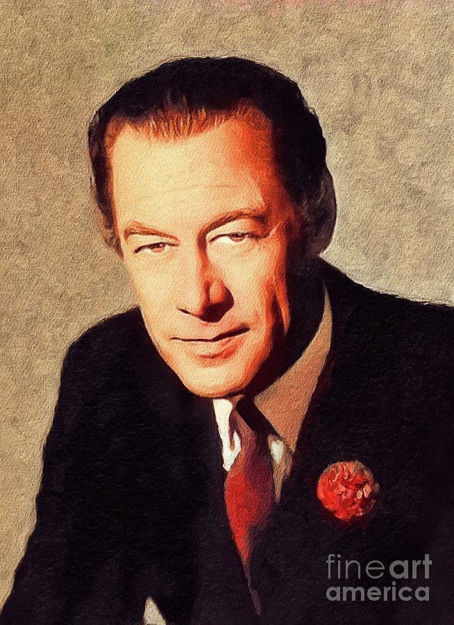 Rex Painting - Rex Harrison, Vintage Actor by John Springfield