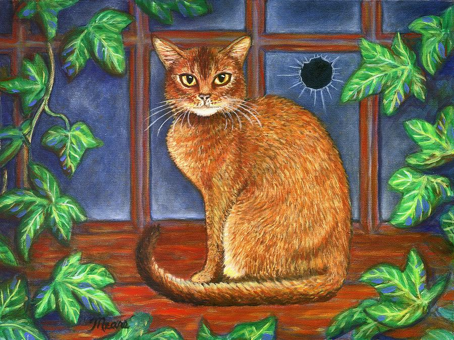 Cat Painting - Rex The Cat by Linda Mears