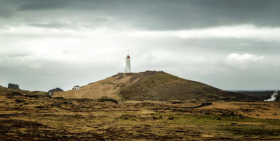 Iceland Photograph - Reykjanes Lighthouse by Hali Sowle