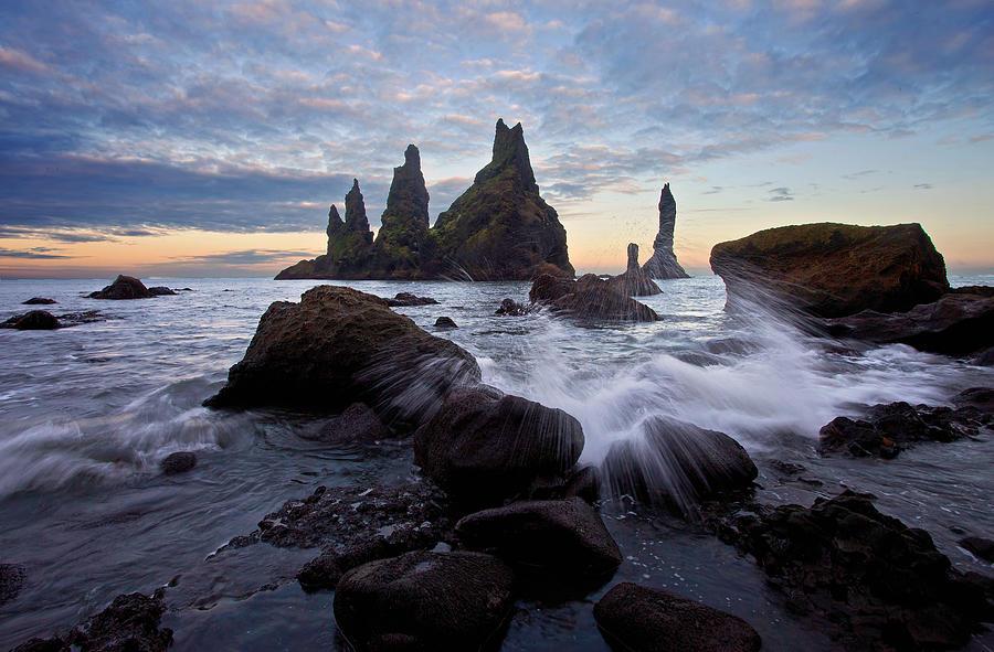 Reynisdrangar At Twilight Photograph
