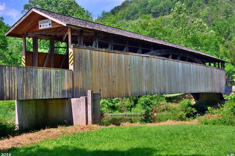 Bridge Photograph - Claycomb Covered Bridge by Lisa Wooten