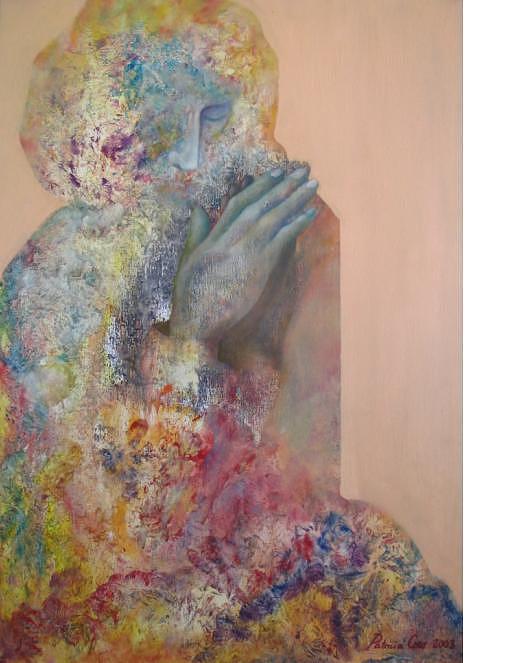 Prayer Painting - Rezo  by Patricia Coro